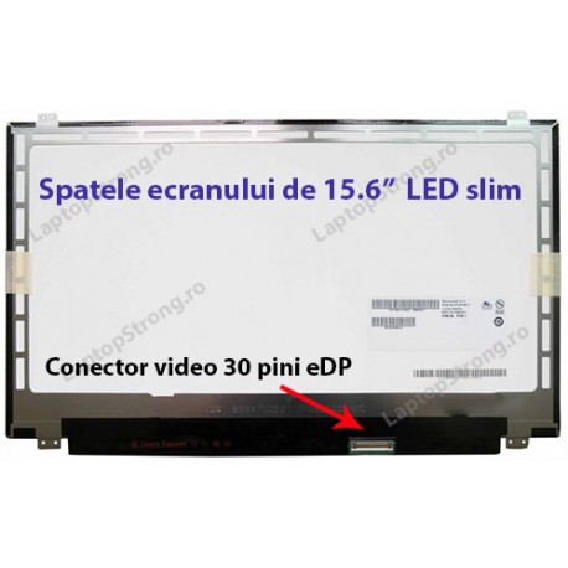 "Display Toshiba 15.6"" LED SLIM 30 pini eDP"