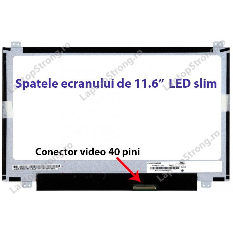 "Display HP 11.6"" LED Slim HD 1366 x 768"